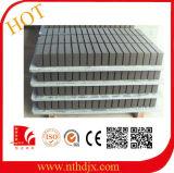 Placa de PVC com placa de concreto e placa de plástico
