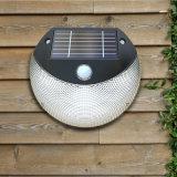 Movimento solar psto solar da luz PIR do jardim da parede interna mini