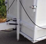 Горячая тележка мороженного стекла волокна круглой формы сбывания с машинами мороженного