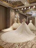 Neue Hochzeits-Kleider der Ankunfts-2017 Spitzender prinzessin-Marriage Short Sleeve