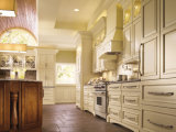 Neuer festes Holz-Küche-Schrank-Entwurf mit hölzernen Hauptküche-Inseln