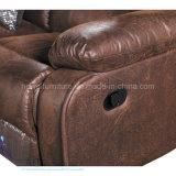 Sofá de couro moderno do Recliner para o teatro Home (DW-6012-2S)
