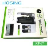 UE blanca dual 2.1A del USB nosotros cargador BRITÁNICO de la pared del enchufe