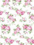 Folha de base floral do algodão das cópias do projeto do vintage