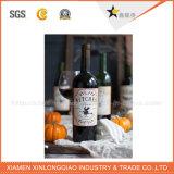 Escritura de la etiqueta transparente de la etiqueta engomada de la impresión de la escritura de la etiqueta de la etiqueta engomada de la botella para la bebida