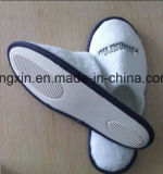 Chaussure remplaçable de velours de qualité de poussoir blanc d'hôtel