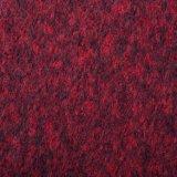 Ткань составного цветка, шерстей и полиэфира в темноте - красном цвете