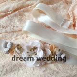 Подгонянный пояс церемонии венчания цветка сатинировки цвета Bridal
