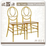 Oro de la calidad comercial que empila la silla de Phoenix Chiavari (JY-J11-01)