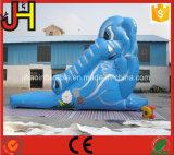 Diapositiva animal inflable barata del elefante lindo para la venta