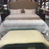 100%年の綿の明白で白い羽毛布団カバーホテルの寝具セット