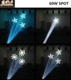60W LED bewegliches Hauptpunkt-Licht