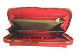 Шикарная застежка-молния кожи PU красного цвета вокруг Бумажника повелительницы