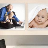 赤ん坊映像の印刷ホーム壁のためのフレームのキャンバスプリント無し