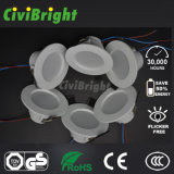 Cara de la curva de la viruta del CREE 3W Embeded LED Downlight con GS