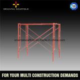 Marco del andamio de la construcción H
