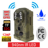 Ere-E1s 12MP 1080P Detecção de movimento PIR Opcional 940nm 850nm Camo Scout Guard GSM MMS Hunting Trail Camera
