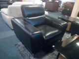 現代革ソファーのコーナーのソファーの舞台装置