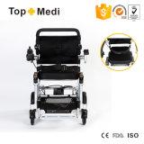 Кресло-коляска электричества Topmedi облегченная алюминиевая складная