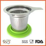 Стрейнер снабженный ободком силиконом крышки Infuser чая фильтра чая кружки нержавеющей стали Ws-If001