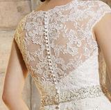 2016 платье венчания шеи горячего Mermaid безрукавный v сбывания