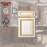 Porta de gabinete de madeira da cozinha da laca branca moderna (GSP5-005)
