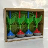 4PCS投げ矢および2PCSターゲットとセットされる暗闇の庭の芝生の投げ矢のゲームの白熱