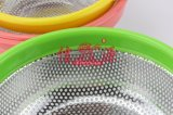 Edelstahl-Farben-PlastikgriffColander (FT-00405)