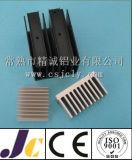 Radiateur en aluminium d'oxydation anodique en noir, profil en aluminium d'extrusion de radiateur (JC-P-82029)