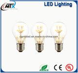 Blanco caliente de Edison de la vendimia de la bombilla de MTX A19 2 W LED del estilo E27 220V LED del bulbo LED del bulbo de cristal del filamento para la decoración casera