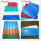 Folha da telhadura da cor para a parede para materiais de construção