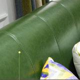 Moderne Freizeit-echtes Leder-geschnittensofa für Wohnzimmer-Möbel As848