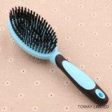 Функциональная двойная красотка холя волос Stainess стальные расчесывает чистую щетку