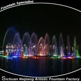 Fontana corrente variopinta di musica di indicatori luminosi