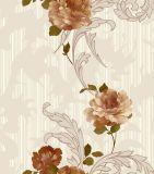 Papel pintado de la flor del vinilo 3D del diseño interior para la decoración casera
