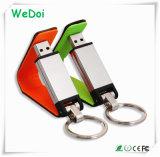 Movimentação de couro de venda quente do flash do USB com garantia de 1 ano (WY-L10)