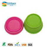 De Vrije Flexibele Reizende Kleurrijke Wasbare Opvouwbare Reeks van de Kom van het Silicone BPA