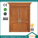 Porte en bois solide composée de placage intérieur en bois avec le remplissage de forces de défense principale