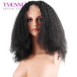 Colore naturale del merletto di Afro di densità di Yvonne 180% della parte anteriore dei capelli umani delle parrucche dei capelli brasiliani ricci del Virgin