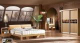 Самомоднейшая конструированная деревянная кровать квадрата мебели спальни (UL-LF017)