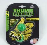 어두운 핑거에 있는 방적공 싱숭생숭함 장난감 LED 핑거 공 요요 기술 장난감 엄지 물림쇠 싱숭생숭함 장난감 뭉치 통제 롤 게임 놀