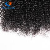 美自然な黒10-22inch Remyの毛を編む1部分のモンゴルのアフリカのねじれた巻き毛の人間の毛髪