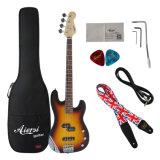 Шнура цены 4 ODM OEM бас электрической гитары цвета дешевого Sunburst