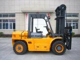 caminhão de Forklift 7.0Ton Diesel com carretel da mangueira e Positioner da forquilha