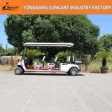 8 de Ce Goedgekeurde Kar van het Golf van het Elektrische voertuig van de Auto van het Hotel van de Club Seater voor Verkoop, Elektrische Auto 6+2 Seater