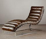 호텔 실제적인 가죽 라운지용 의자, 여가 라운지용 의자, 고전적인 형식 라운지용 의자 F-001