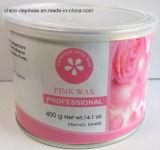 Чонсервная банка воска 400g прокладки розового чувствительного воска Creme депиляционного мягкая