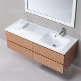 Pierre extérieure solide acrylique blanche pure au-dessus de contre- lavabo