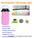 LED 태양 램프 (CL-FD02)를 가진 실리콘 병 찻잔