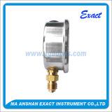 Tipo calibre do Calibrar-Bronze da pressão do Manómetro-Petróleo do aço inoxidável mais baixo de pressão